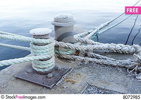 Bitts And Mooring Lines.