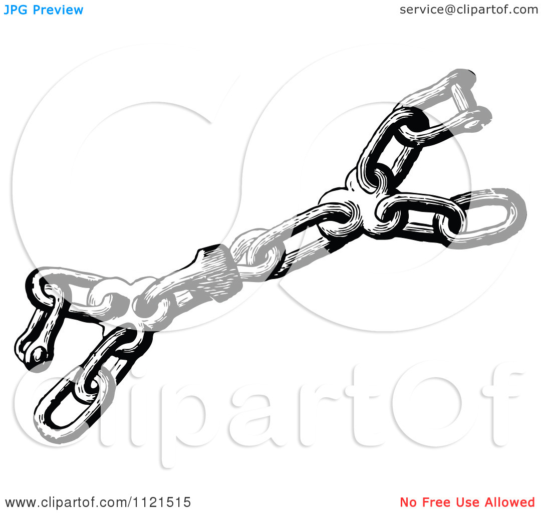Clipart Of A Retro Vintage Black And White Mooring Swivel.