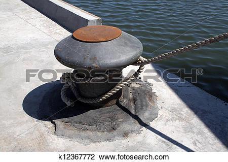 Clip Art of mooring pier in a dock k12367772.