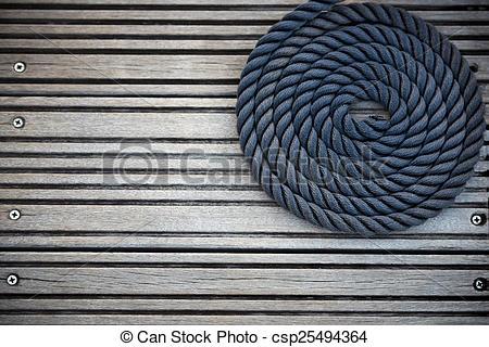 Stock Image of Nautical mooring rope.