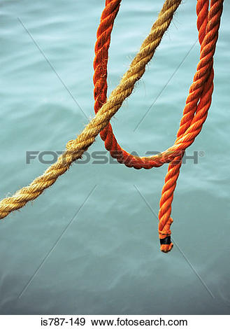 Stock Photograph of Mooring rope is787.