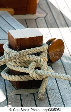 Stock Photography of Mooring rope.