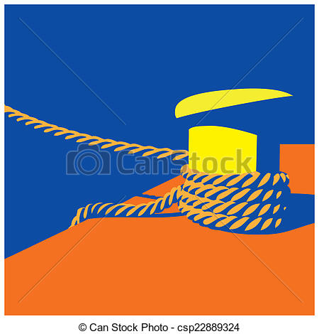 Clip Art of Knecht and mooring ropes.