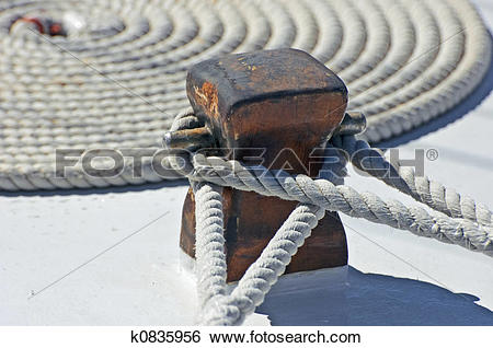 Stock Images of Mooring rope k0835956.