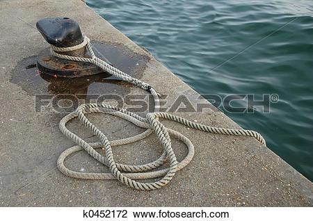 Stock Photo of Mooring rope k0452172.