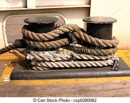 Stock Photo of Mooring Rope.