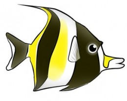 Moorish Idol Clipart.