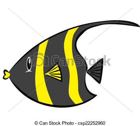 Clip Art Vector of Moorish Idol csp22252960.