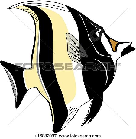 Clip Art of Moorish Idol u16882097.