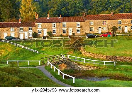 Stock Photo of Traditional stone houses of Hutton Le Hole, North.