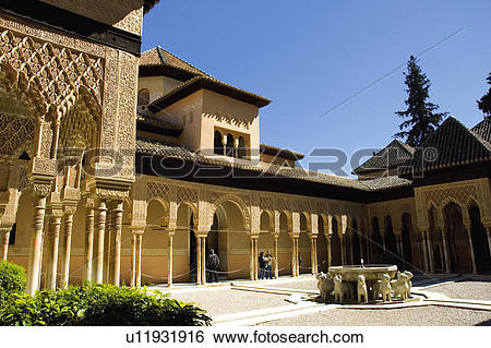 Stock Images of Spain, Andalusia, Andalucia, Granada, Moorish.