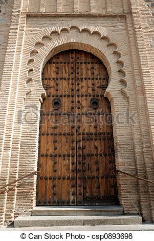 Pictures of moorish style door.
