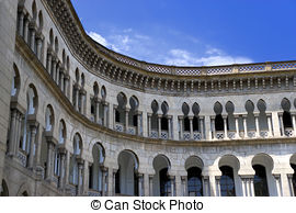 Stock Photography of moorish architecture in malaysia.