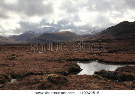 Scottish Moor Stock Images, Royalty.