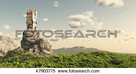 Stock Illustration of Tower on the Moors k7903775.