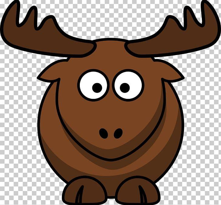 Elk Moose Cartoon PNG, Clipart, Antler, Cartoon, Cartoon.