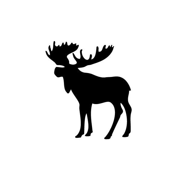 Moose Silhouette Clip Art.