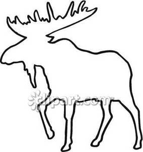 Moose Clipart Black And White.