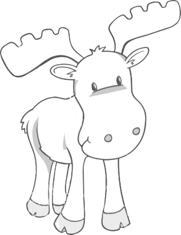 Moose Clipart Black And White My Cute Graphics