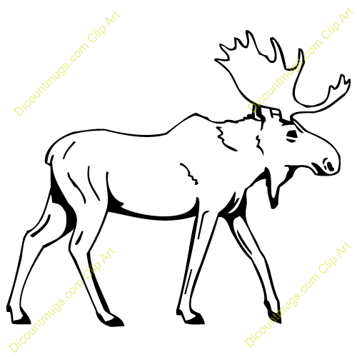 Moose Clipart Outline.
