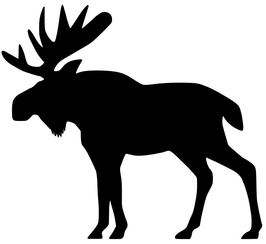 Moose Deer Black and white Clip art.