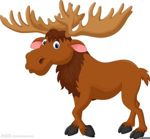 Moose Clipart Cartoon.
