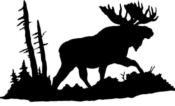 moose silhouette.