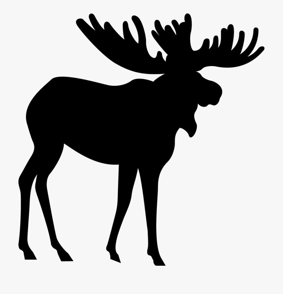 Transparent Elk Silhouette Png.