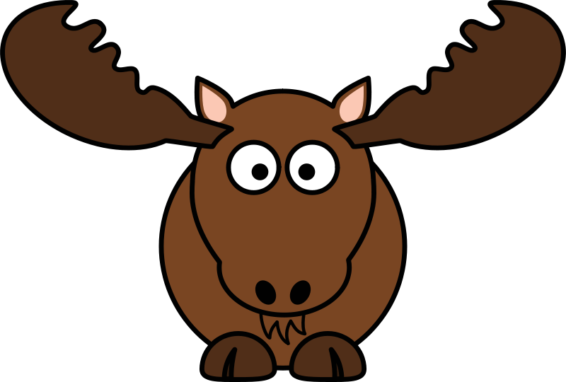 Free Clipart: Cartoon Moose.
