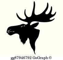 Moose Head Clip Art.
