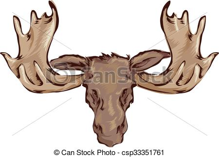 Moose head Stock Illustrations. 1,586 Moose head clip art.