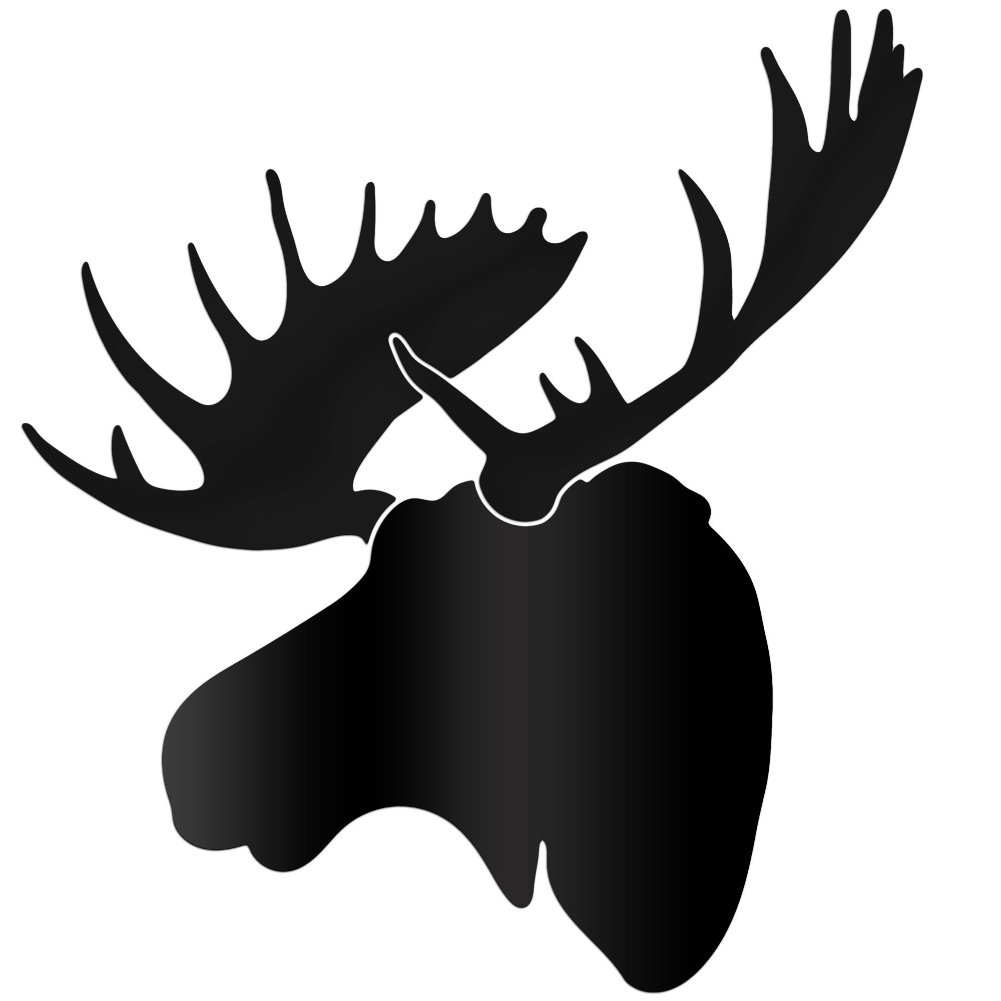 Silhouette Of A Moose Head.