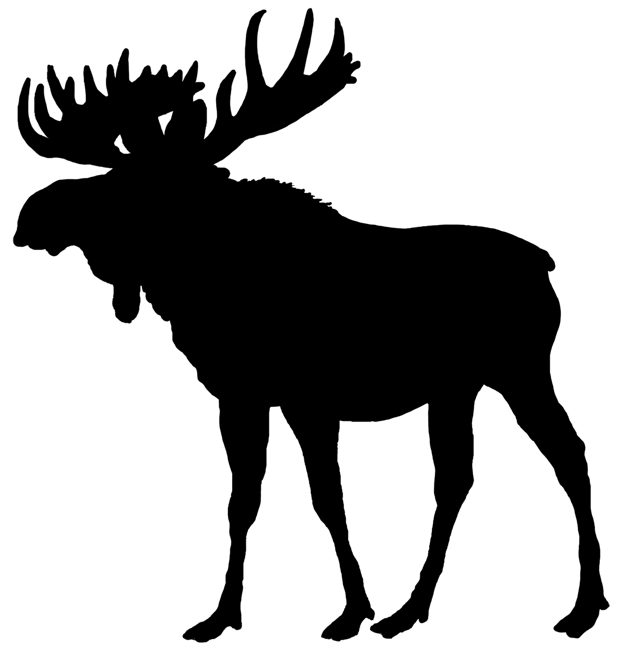 Best Pattern Moose Head Silhouette Pictures » Free Vector.