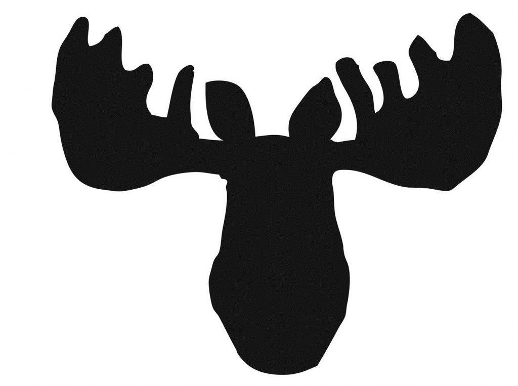 moose head silhouette.
