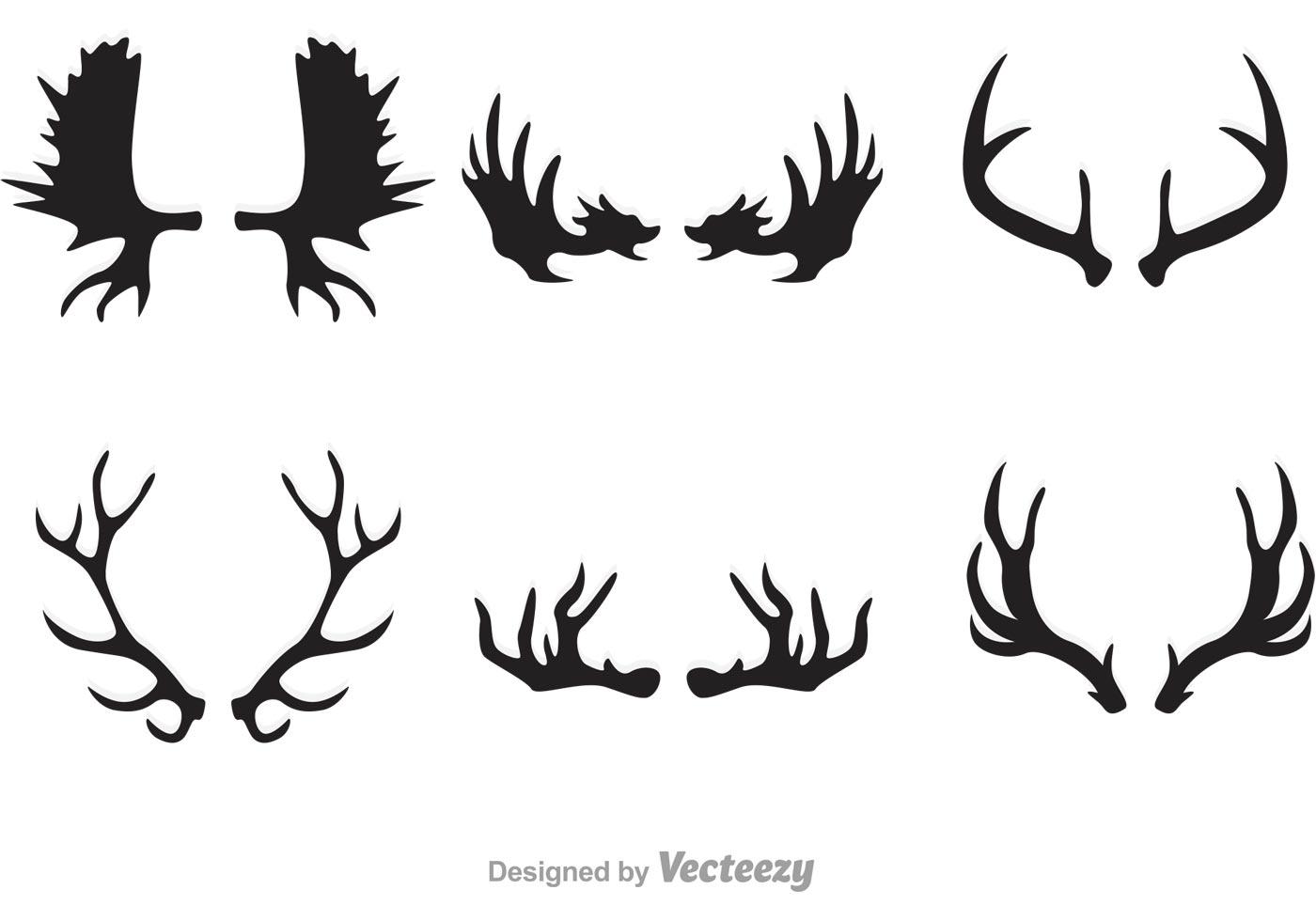 Antlers Free Vector Art.