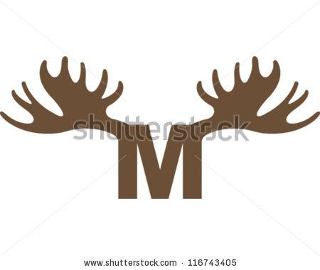 Moose Horns Stock Photos, Royalty.