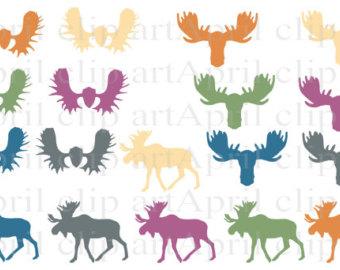 Moose antler clip art.