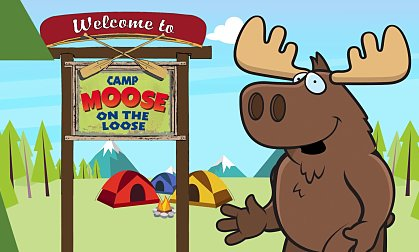 Camp moose on the loose clipart » Clipart Station.