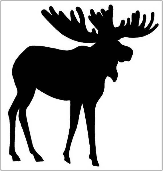 Moose clipart outline clipart clipart ideas wallpaper.