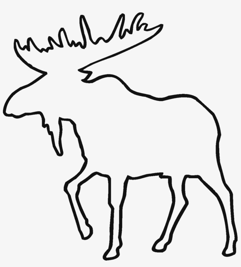 Deer Line Drawing Clipart.
