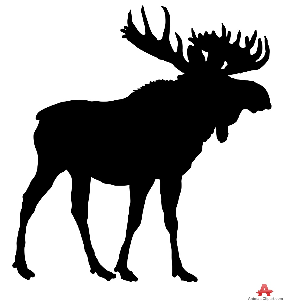 Moose silhouette clipart.