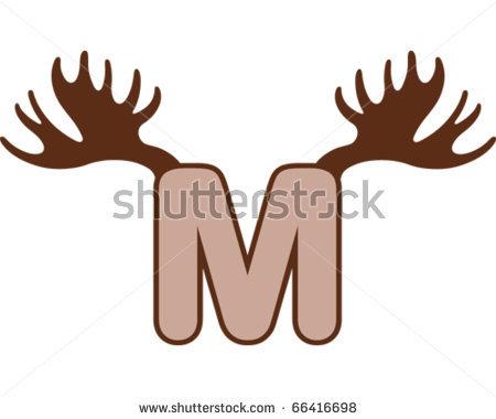 Moose Antler Clipart.