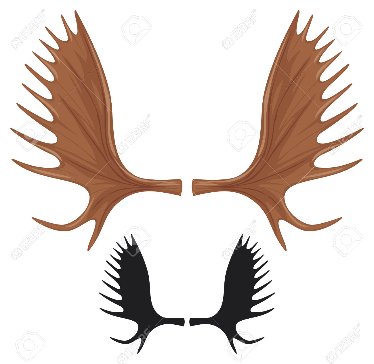 2,484 Moose Antlers Stock Vector Illustration And Royalty Free.
