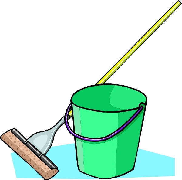 Mop And Bucket clip art Free vector in Open office drawing svg.