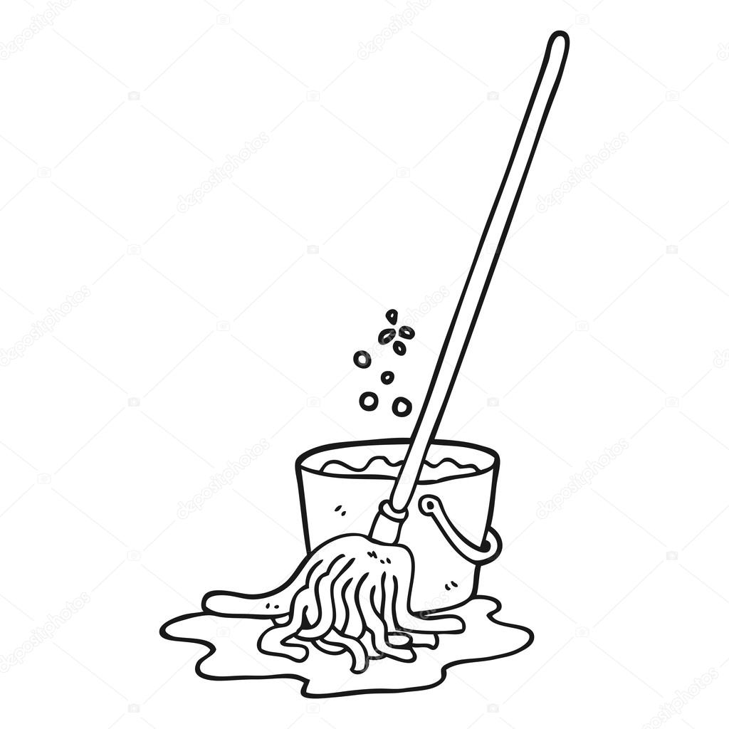 Clipart: clip art mop and bucket.