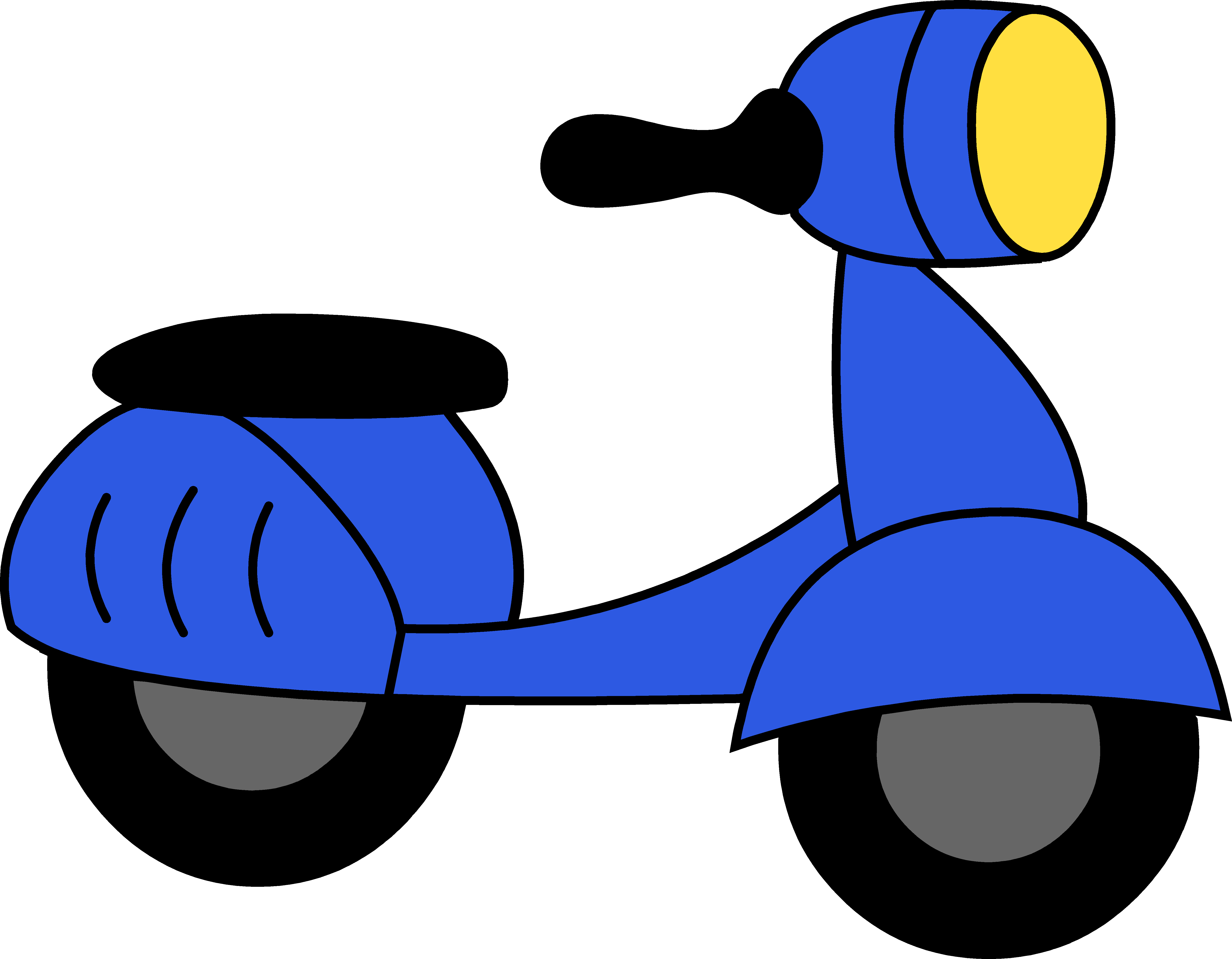 Moped Clipart.
