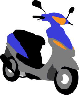 Moped clipart #17