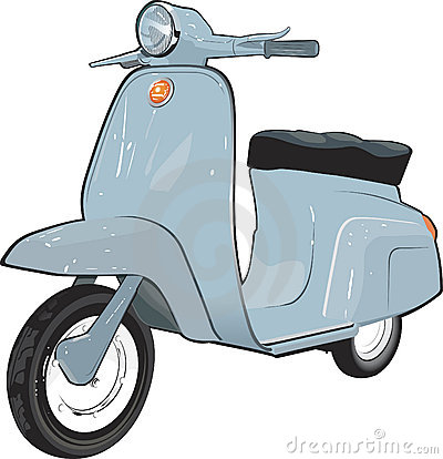 Moped, Scooter Royalty Free Stock Photo.