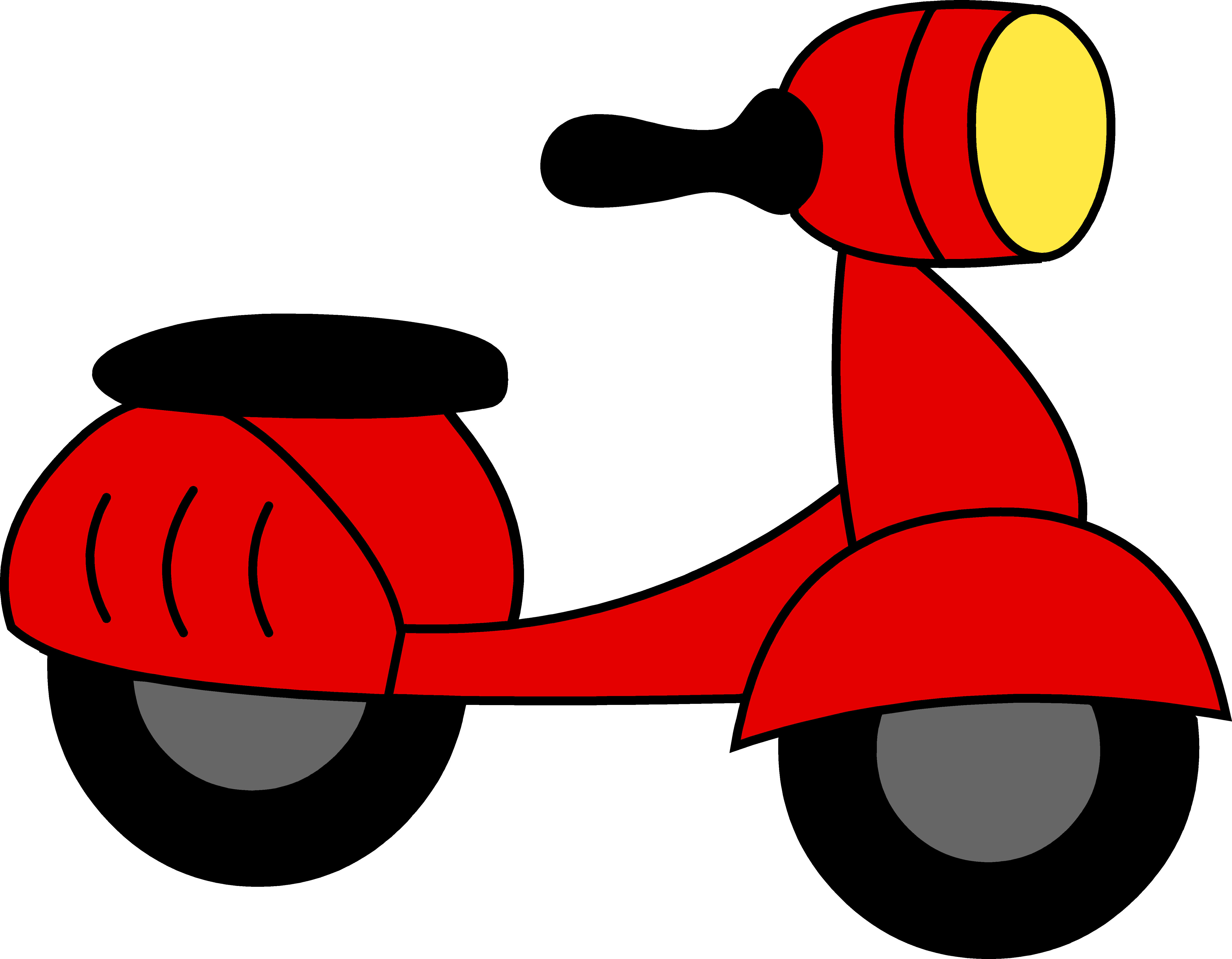 Red moped