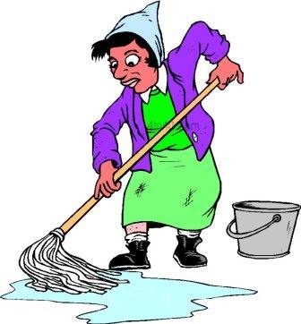 Showing post & media for Cartoon washing the floor.